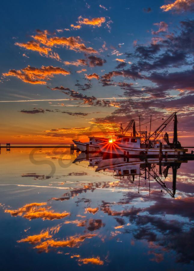 Sun Kissed Shrimper Photography Art | John Martell Photography