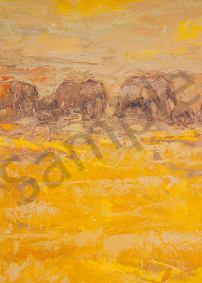 Amboseli Evening Art | Mary Roberson