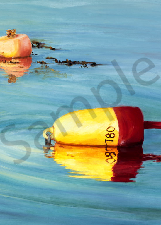 Maine Lobster Buoys