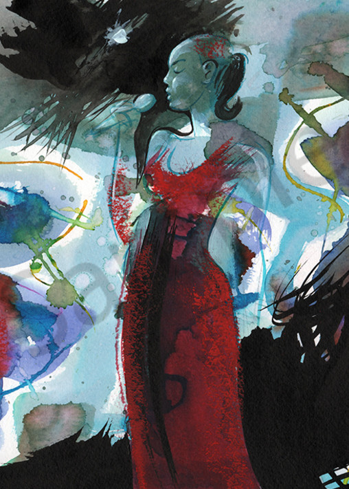 Diva In Red Art   Digital Arts Studio / Fine Art Marketplace