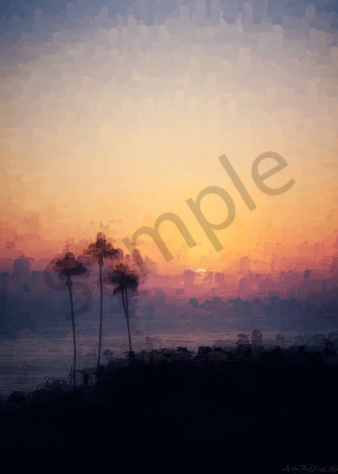 Joy - Summer Sunset in Capistrano - digital painting photograph
