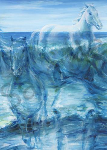 """Horses As The Waves"" by Cnadian artist Melani Pyke   Prophetics Gallery"