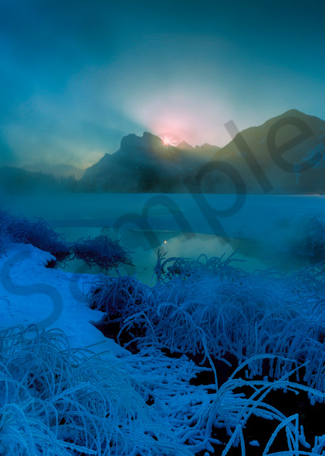 Sunrise and Polar Vortex. March and still in the -30's in Banff|canadian Rockies|
