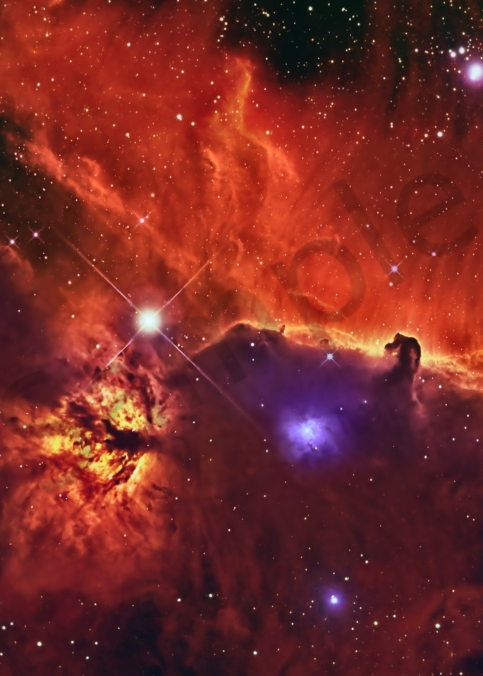 Horsehead & Flame Nebulae Photography Art | Dark Sky Images