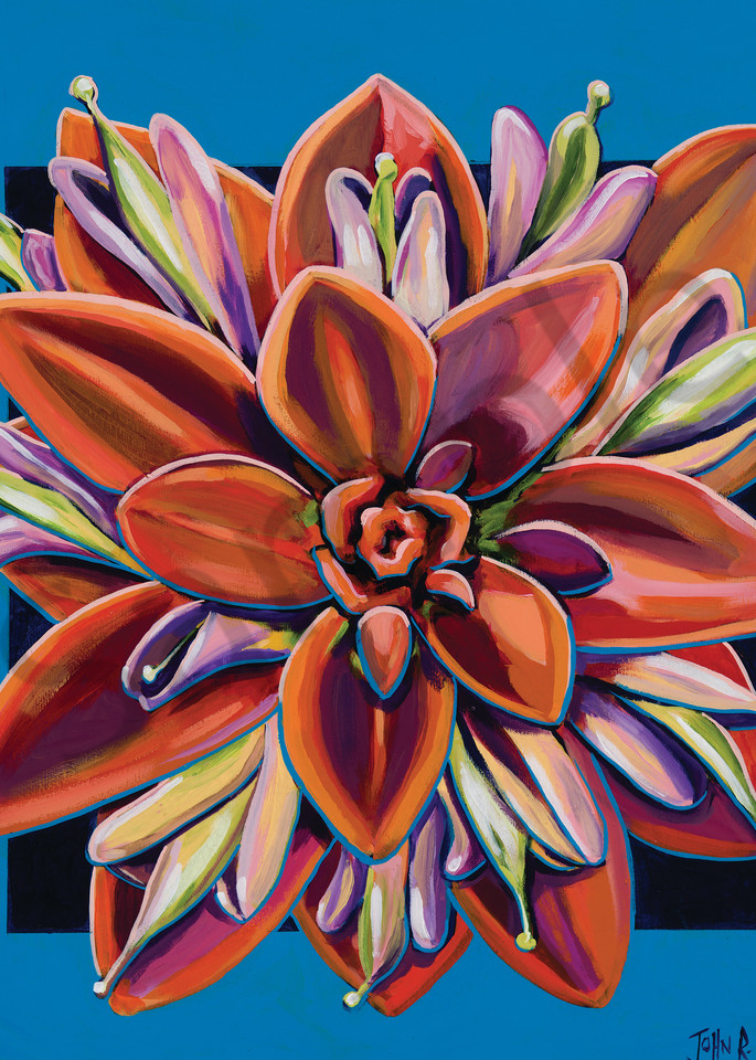 Flower paintings by John R. Lowery for sale as art prints.