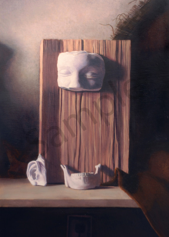 Still life painting, plaster painting, interesting still life