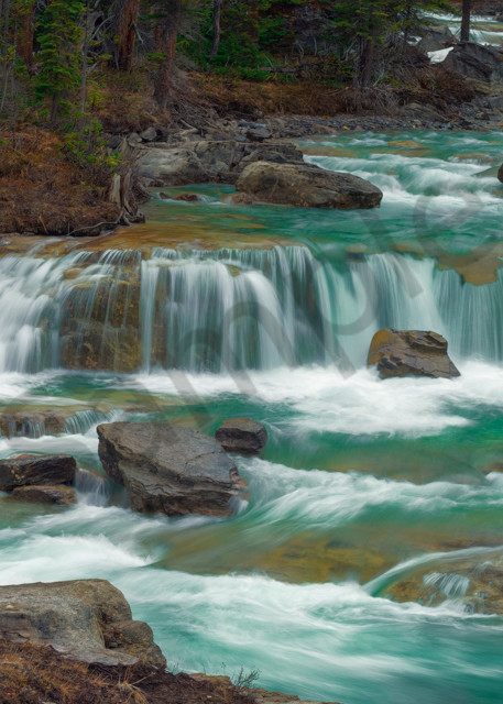 Soft Spring Thunder. High water flow in the creeks and rivers in  Banff  National Park|Canadian Rockies|Rocky Mountains|