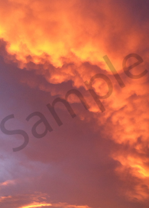 """""""Cloudy With A Chance Of Fire"""" by Curtis Sikes   Prophetics Gallery"""