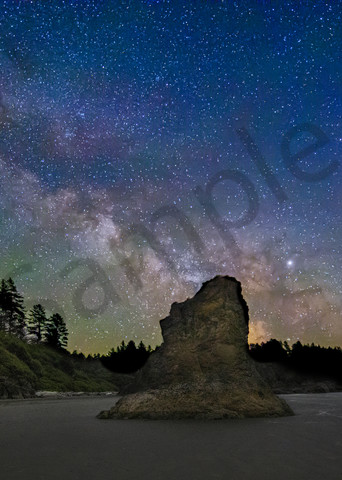 Ruby Beach Milky Way 3 Photography Art   John Martell Photography
