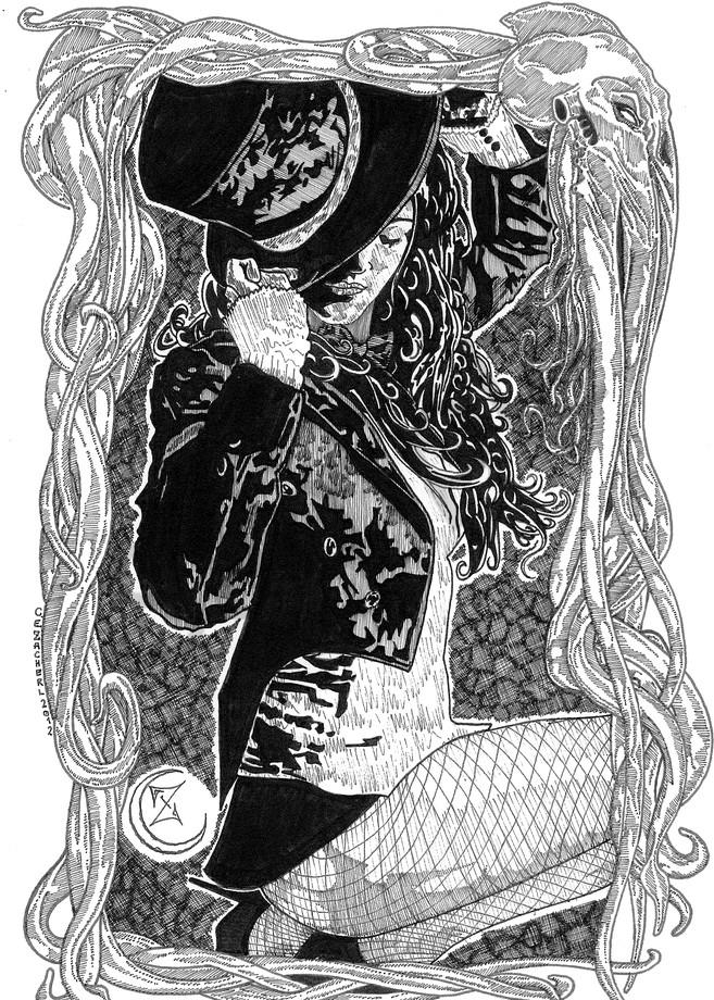 DC's Zatanna with Cthulhu frame.