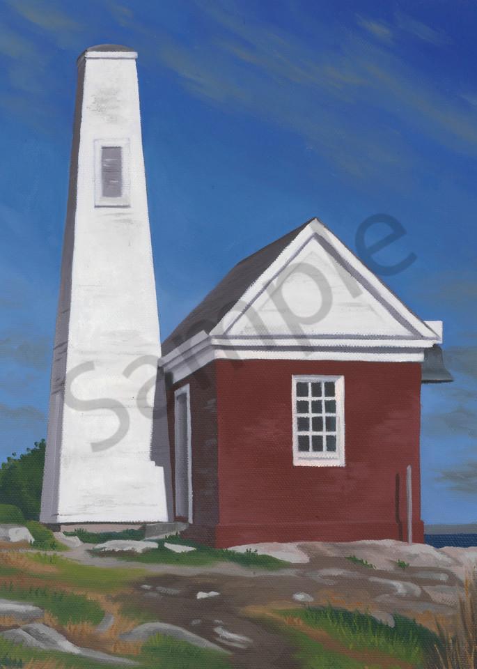 Pemaquid Bell   Lighthouse   Maine   Art Print