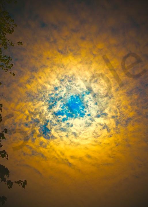 Blue Iris Clouds  Art | toddbreitling