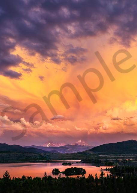8723 Lake Dillon Sunset  Art | Cunningham Gallery