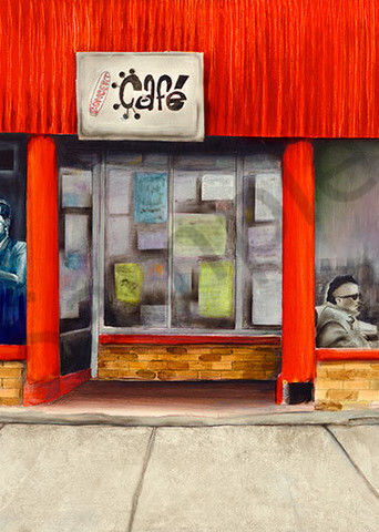 """""""Concert Cafe""""  fine art print by Peter Koury."""