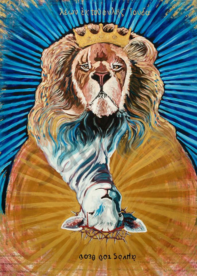"""The Lion And The Lamb"" by Arizona Prophetic Artist Heidi Ngai   Prophetics Gallery"