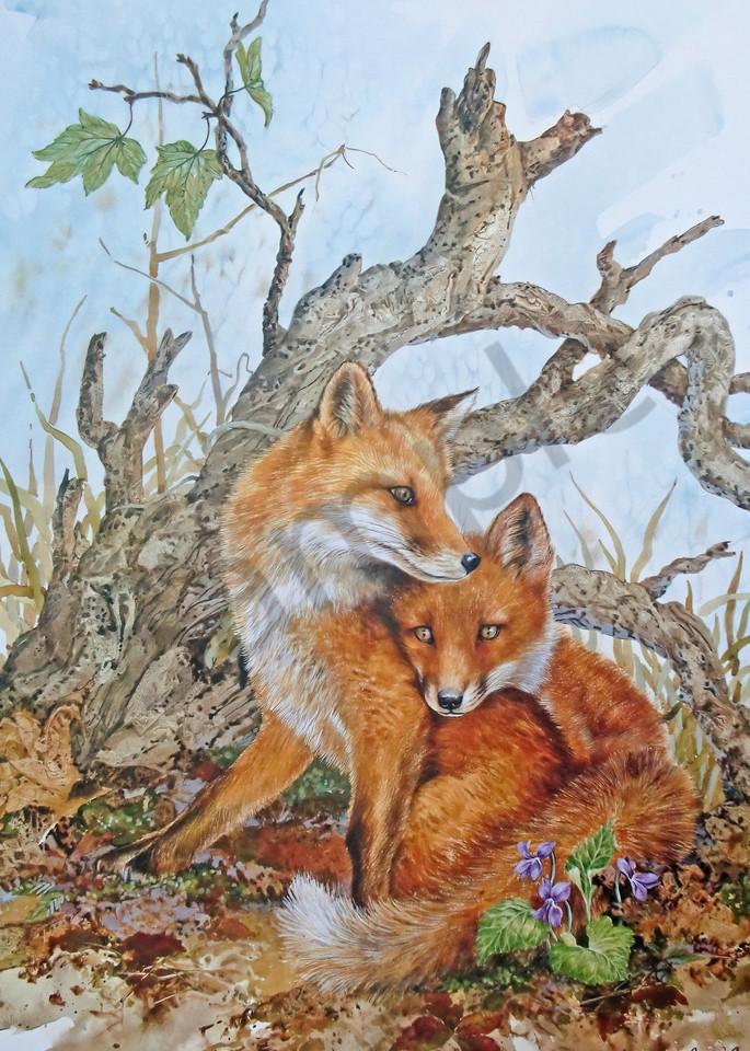 """""""Foxes"""" by Colorado Artist Jean Pierre DeBernay   Prophetics Gallery"""