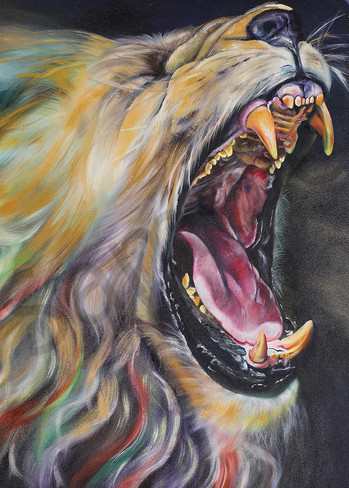 """""""Lion of Judah Roaring Over Africa"""" by South African Artist Trudie Oosthuizen   Prophetics Gallery"""