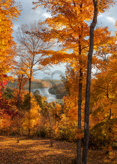 Autumn on Cedar Lake - vivid fall colors - fine art photography prints - by JP Sullivan Photography