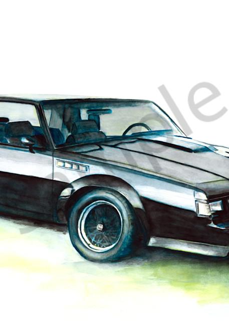 Buick Grand National car watercolor prints