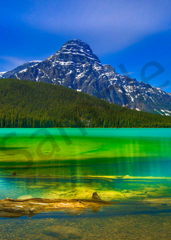 Waterfowl Lake in Banff National Park. 