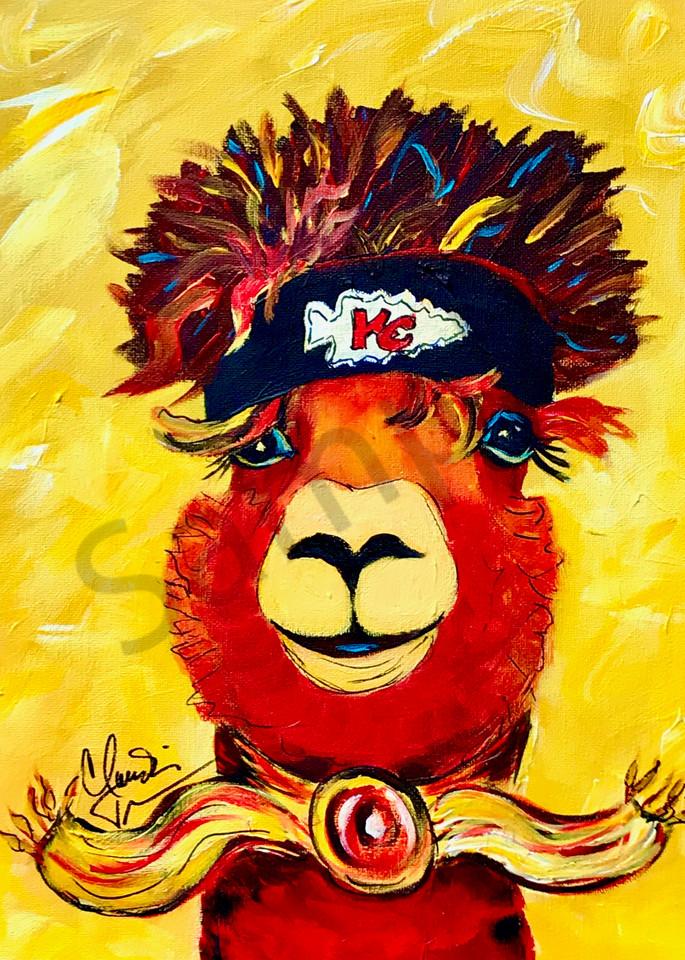 Rebel the Alpaca Chiefs Fan