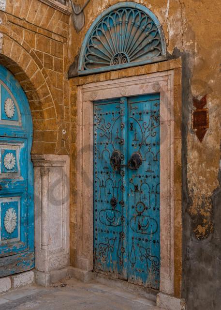 Tunis Medina corner doors