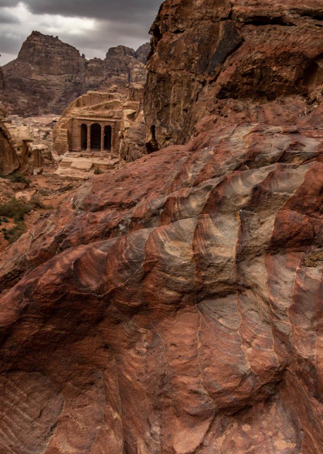 Petra winter rocks