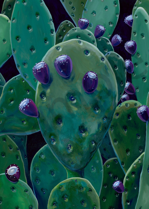 Cactus paintings by Texas artist, John R. Lowery available as art prints.