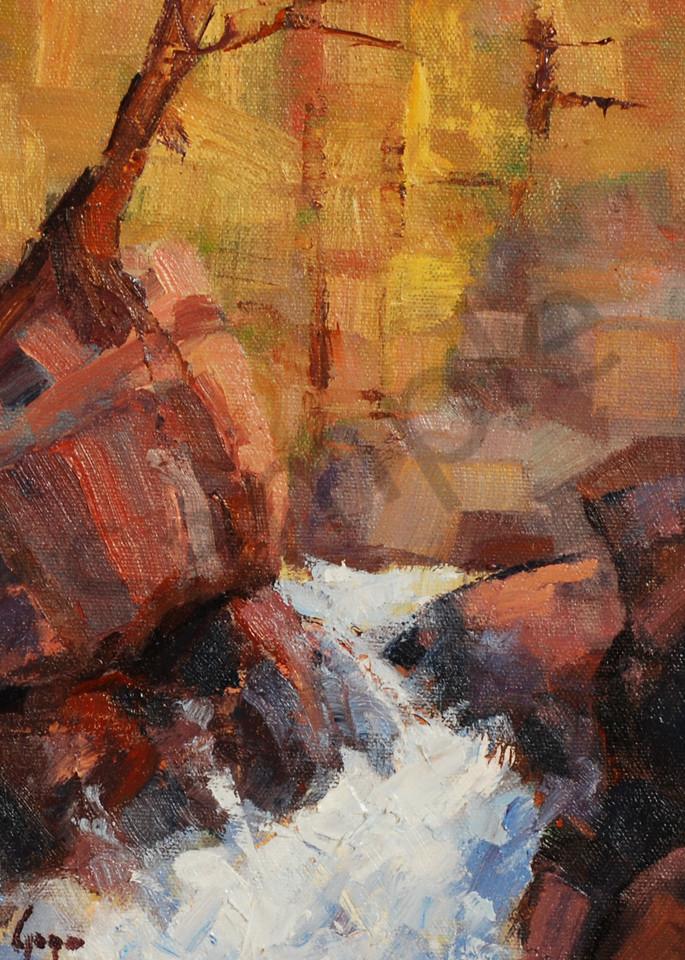 Adams Falls Art   Gary Gore