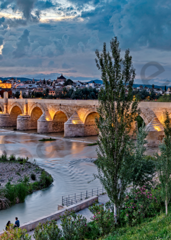 Art Print Cordoba Spain Roman Bridge