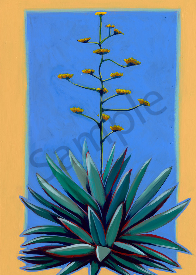 West Texas Century Plant paintings by John R. Lowery, for sale as art prints.