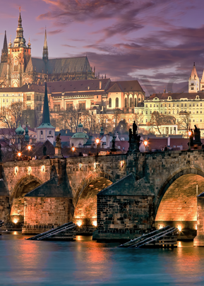 Art Print Charles Bridge Prague Czech Republic Statues of Saints