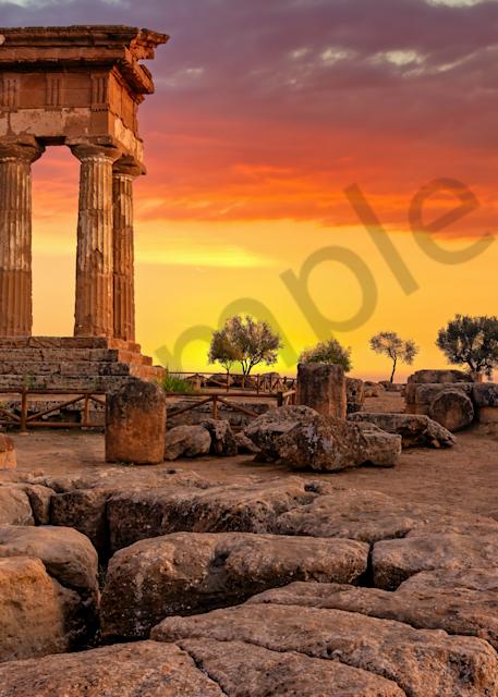 Art Print Agrigento Sicily Italy Greek Temples