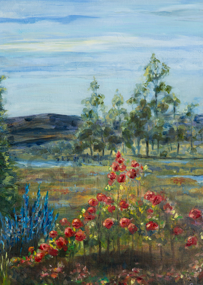 """Rose Garden View"" by Pennsylvania Artist April Ryan | Prophetics Gallery"