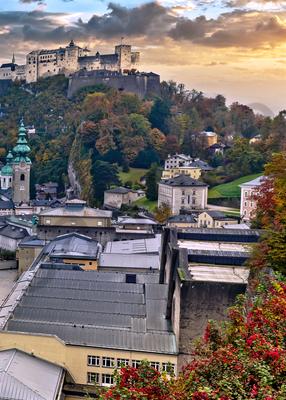 Art Print Salzburg Austria Hohensalzburg Fortress