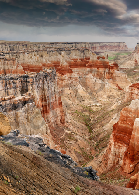 Art Print Coal Mine Canyon Tuba City Arizona Colorful Layers