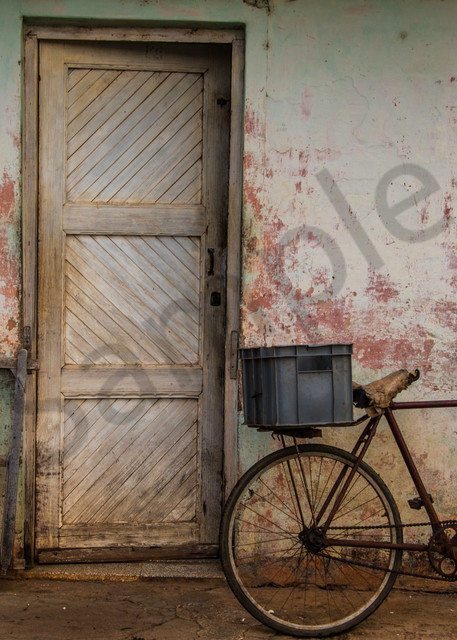 Bike pink wall