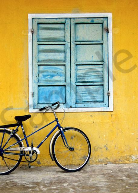 Vietnam bike by Yellow wall