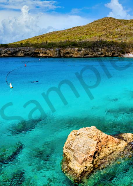 Art Print Kleine Knip Sabana Westpunt Curacao Small Beach