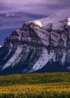 The 5 peaks around Lake Louise in Banff National Park. Canadian Rockies|Rocky Mountains|