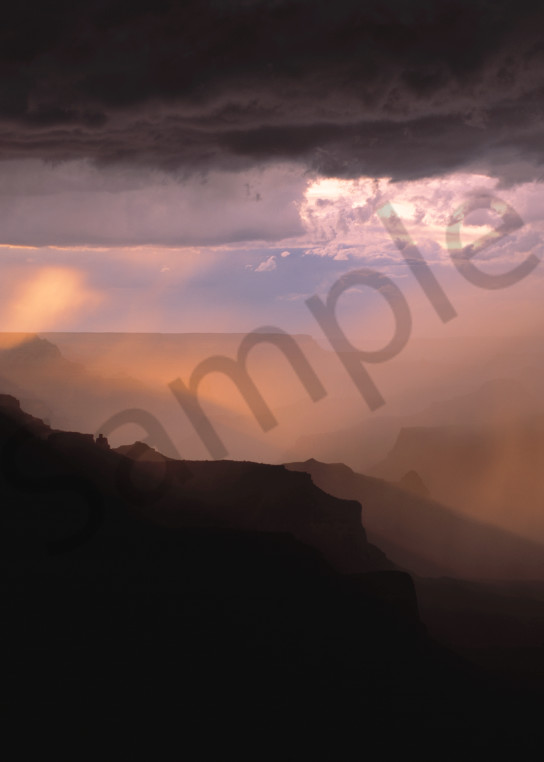 Monsoon storm, Grand Canyon National Park