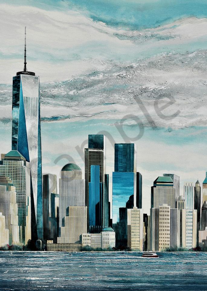 New York City Skyline Art | John Blowers Art