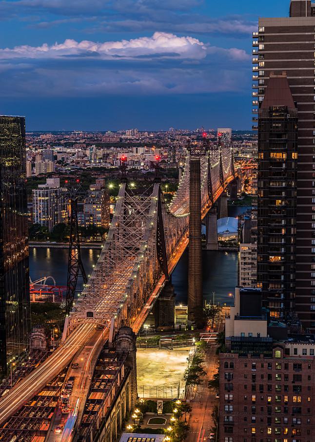 Queensboro Bridge at twilight