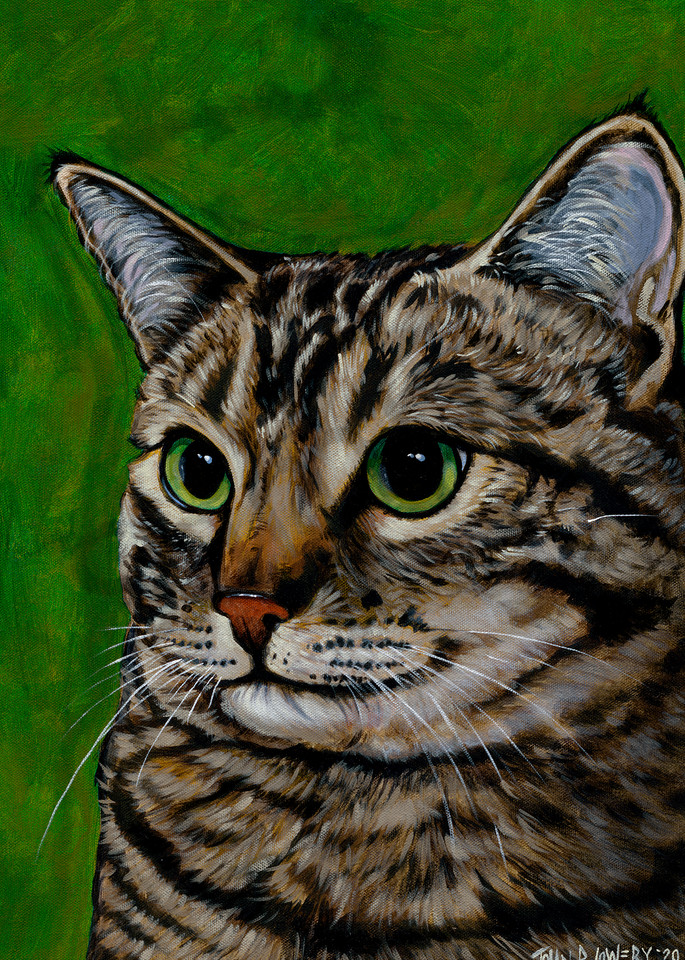 Creative cat paintings by Texas artist, John R. Lowery, available as art prints.