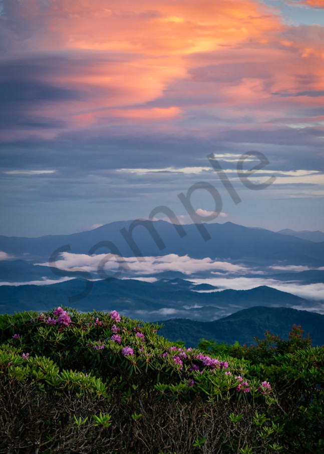 Sunset Over Roan Mountain Photograph for Sale as Fine Art