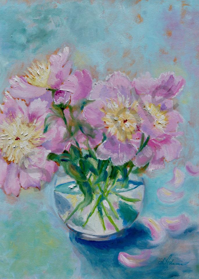 """Morning Peonies"" by North Carolina artist Sharon Adams | Prophetics Gallery"
