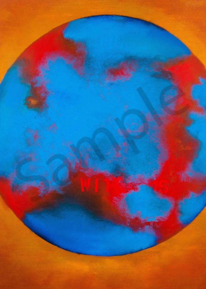 Earth Witness Oil Canvas 66x60 Art | Adam Shaw Gallery