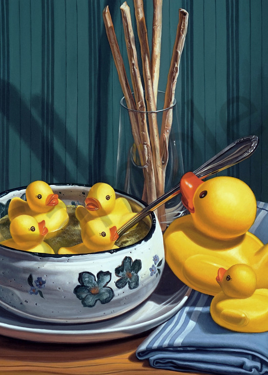 """""""Duck Soup"""" print by Kevin Grass"""