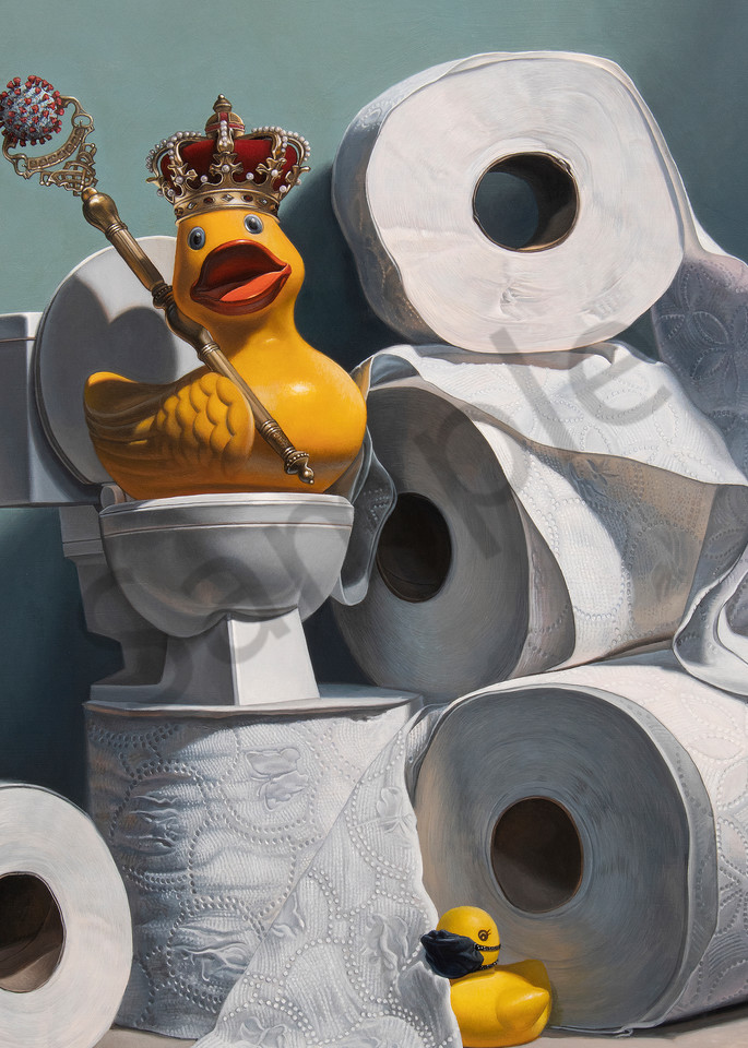 """""""What the Duck?!"""" print by Kevin Grass"""