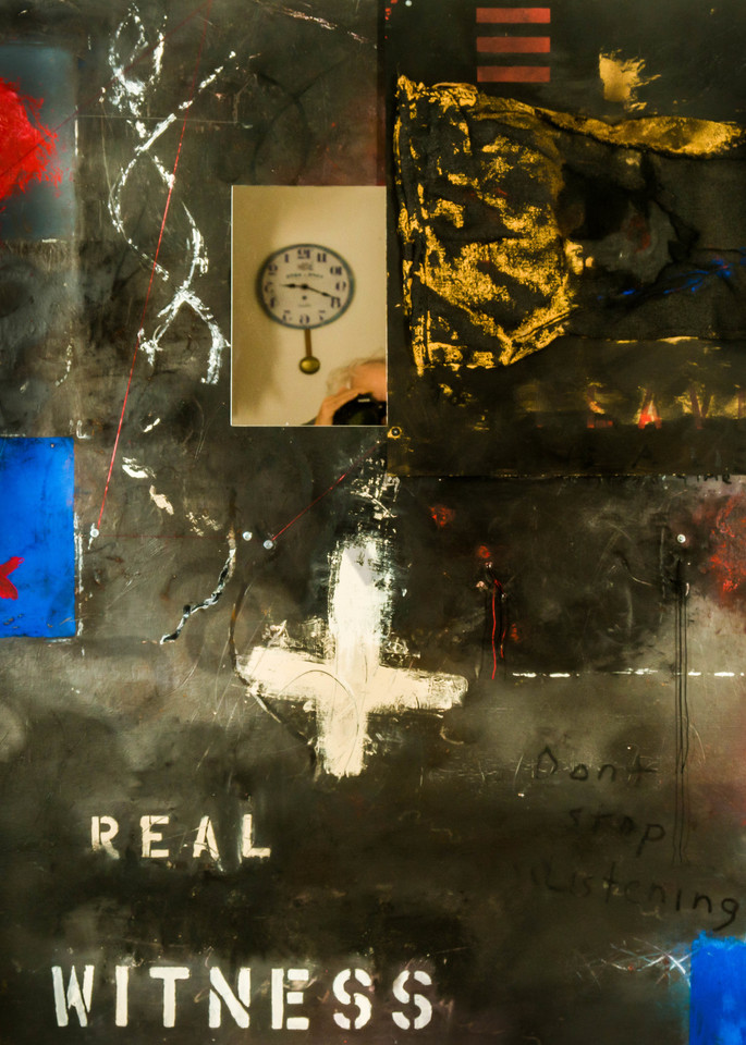 Real Witness Mm On Aluminum 54x48 Art | Adam Shaw Gallery